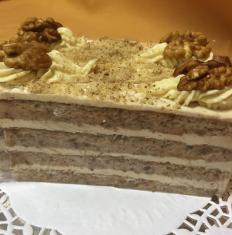 Orechová torta, bezgluténová,  bezlaktózová,dia