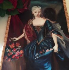 Maľovaný portrét ml. Márie Terézie